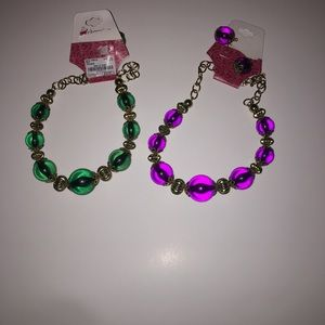 2 bundle earring and necklace set